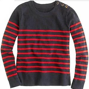 J Crew Nautical Striped Sweater